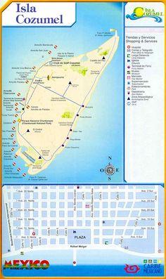 Cozumel diving map.  http://www.tourbymexico.com/qroo/cozumel/cozumel.htm
