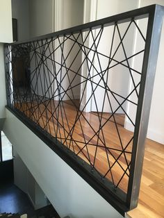 Modern Stair Railing, Concrete Staircase, Stair Railing Design, Modern Stairs, Railings, Loft Design, House Design, Welded Furniture, Staircase Storage