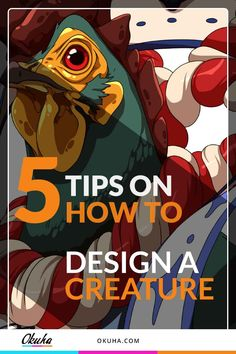 5 Tips on How to Design a Creature    chicken, champion, anime tutorial, how to draw, drawing tips, how to cel shade, cel shading, manga art, anime art, free tutorial, digital art tutorial, step-by-step, step by step, anime illustrations, coloring tips, shading tips, lighting tips, how to shade, character design #anime #manga #characterdesign #tutorial #stepbystep #celshading #coloring #chicken #champion https://okuha.com