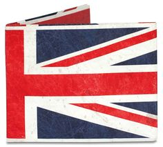 Want to show your love of the Union Jack? Try the Union Jack Mighty Wallet with mighty good British loyalty written all over it. Terrence Kelleman brings the Union Jack to the US on a wallet that prob