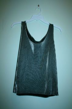 717a022e88 ladies tops sleeveless shiny silver pleat pretty mint condition  fashion   clothing  shoes  accessories  womensclothing  activewear (ebay link)