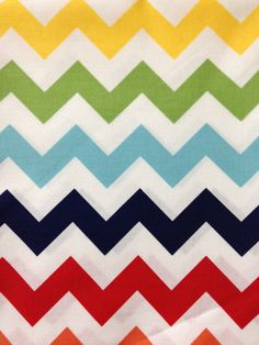 Medium Chevron Rainbow Cotton Fabric per Yard on Etsy, $9.60