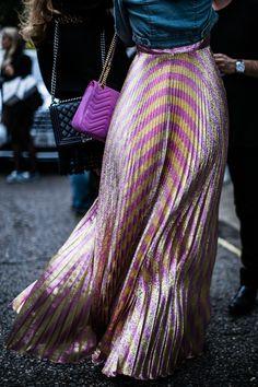estilo de la calle a la Semana de la Moda printemps-été 2017 de Londres
