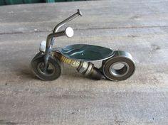 Metal motorcycle by AdamsCraftyCreations on Etsy