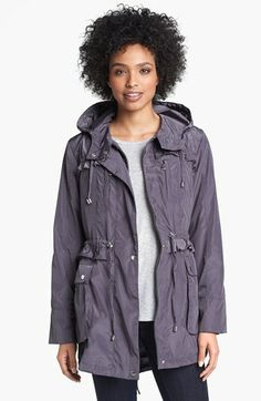 Betsey Johnson Ruffled Anorak (Petite) available at #Nordstrom
