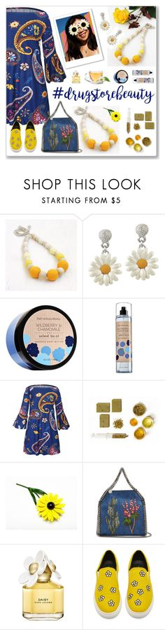 """""""Beauty on a Budget: Drugstore Beauty"""" by crochetnecklaces ❤ liked on Polyvore featuring beauty, WithChic, STELLA McCARTNEY and Marc Jacobs"""