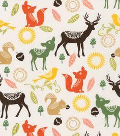 Keepsake Calico™ Cotton Fabric-Woodland Animals