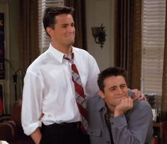 chandler, chandler bing, and Joey image