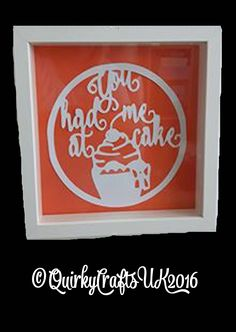 'You had me at cake' Papercutting Template | No2 of 4 'Teatime' themed cuts…