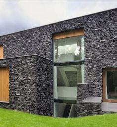 fachadas de casa con piedras | inspiración de diseño de interiores