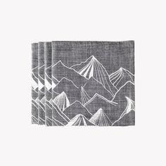 Lot-de-4-serviettes-chambray-imprime-montagnes-43-x-43cm-gris-v1