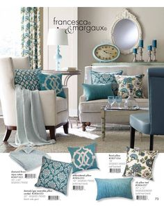 blue lagoon living room | ethan allen | for the home | pinterest