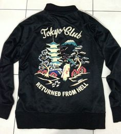 "Vintage Tailor Toyo ""Returned from Hell"" Sukajan Japan Varsity Jacket Size M | eBay"