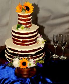 Flowers on cakes always add something special like these flowers we added to our brides cake