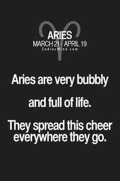Aries | Well, I do my best.