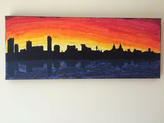 Skyline of Liverpool canvas