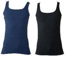 Sehet diesen 4erPack in blau und schwarz glänzend. Thermo Feinripp, dieses Unterhemd mit Frackschnitt.  75% Baumwolle/25% Polyester