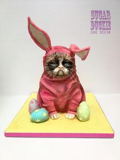 Grumpy Easter Cat by Sugar Duckie (Maria McDonald)