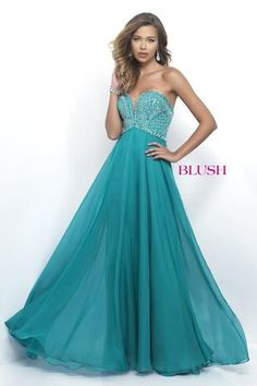 This deep sweetheart dress has a beaded bodice and cut out back, and it's at Rsvp Prom and Pageant, your source of the HOTTEST Prom and Pageant Dresses! Prom Dresses 2016, Prom Dresses Blue, Pageant Dresses, Formal Dresses, Blush Prom Dress, Blush Dresses, Chiffon Dresses, Chiffon Skirt, Blue Evening Dresses