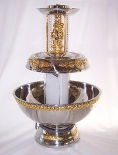 Rent a 5 gallon champagne fountain for your party at All Seasons Rent All Stainless Steel Tubing, Stainless Steel Material, 40th Birthday Themes, Birthday Cake, Champagne Fountain, Bar Drinks, Beverage, Gatsby Wedding, Wedding Rentals