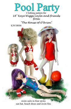 "BJD Ball joint MSD KW18003 China Doll pattern for 18/"" Kaye Wiggs"