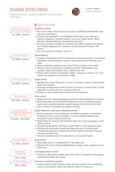 Image result for freelance writer resume