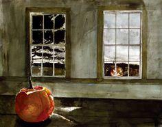 Andrew Wyeth, Mischief Night, 1994