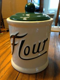 Himark vintage style ceramic flour canister