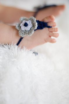Baby Barefoot Sandals. Dallas Cowboys colors. Girl stylish foot wear for those tiny earth bound toes.. $18.00, via Etsy.