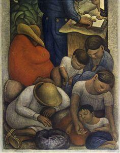 Per chi lo voleva vedere a colori: Diego Rivera: El sueño (La noche de los pobres) - 1928  The Phillips Museum of Art, Franklin & Marshall College  #diegorivera, #sleep, #elsueno, #elsueño #quadri, #dipinti, #pittura, #arte,