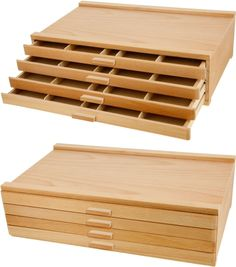 4 Drawer Wooden Pencil Box - holds about 180 colored pencils - Available from Amazon.com