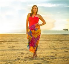 2ca0a198807a9 Plus Size Sarong Pareo in Bright Hawaiian Print with free shipping! Get  ready for summer