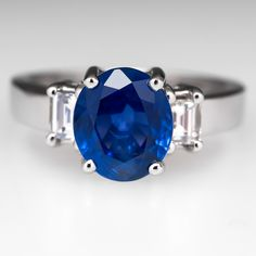 3.63 Carat GIA Unheated Sapphire Engagement Ring