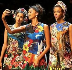 The Funniest #Selfies at the Dolce & Gabbana Fashion Show via @WhoWhatWear