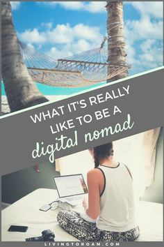 Let's dive into what it's really like to live this seemingly glorious pants-optional digital nomad life, this time WITHOUT the Instagram filter. Behind every laptop-on-the-beach photo, is a person working through different time zones, skill sets and clients. Ready to find out what it's really like? Visit livingtoroam.com for more on remote work | #digitalnomad #freelancing #remotework