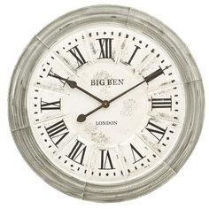 Deze mooie klok komt met name in een landelijke woonstijl goed tot zijn recht.
