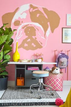 DIY Murals • Ideas and Tutorials! Including this wonderful diy cork board wall mural from 'vintage revivals'.