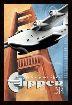 Vintage Plane Posters | Vintage posters framed to exhibit printed area only, excess margins ...