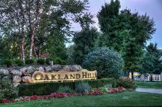 Oakland Hills entry statement at dawn Oakland Hills, State Forest, Resort Style, Condominium, How To Take Photos, Dawn, Sidewalk, Exterior, Tours
