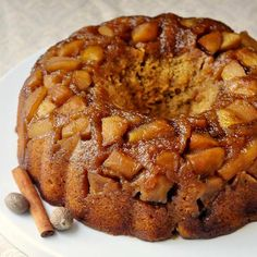 Sticky Toffee Apple Cake - this recipe is a warm apple spice cake version of a sticky toffee pudding. Rich, moist and densely textured, this would make an ideal brunch cake or decadent dessert any time. Can an Autumn dessert get better than this?