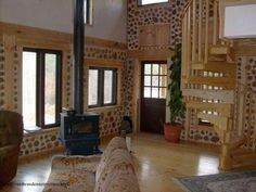 cordwood-house-interior-luke-and-amy-spartanburg-south-carolina