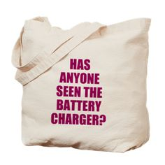 BATTERY CHARGER Tote Bag