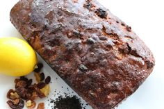 Earl Grey Fruit Tea Loaf Cake - a traditional English tea loaf made with lemon and honey.