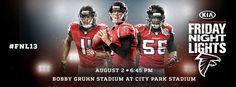 Join us next Friday for the Falcons annual Kia Motors Friday Night Lights at Bobby Gruhn Stadium at City Park Stadium! http://www.atlantafalcons.com/news/fnl13.html