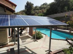 Solar Panel Pergola  Hmm Good Idea Since We Get Mass Amounts Of Sun In Our