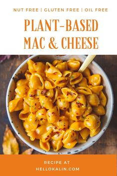 Easy silky smooth vegan mac & cheese made from simple plant based ingredients. No faux cheese, no oi. Easy silky smooth vegan mac & cheese made from simple plant based ingredients. No faux cheese, no oi. Dairy Free Mac And Cheese, Vegan Mac N Cheese, Chili Mac And Cheese, Mac Cheese Recipes, Macaroni And Cheese, Cashew Cheese Sauce, Whole Food Recipes, Healthy Recipes, Vegan Recipes No Oil