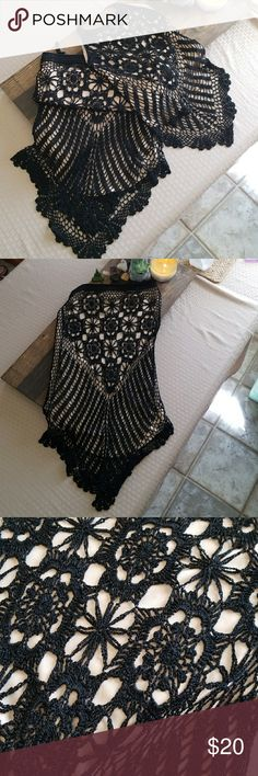 Sexy and ready for summer 2 pc set! 🌹🌷 Adorable black crochet top and skirt set. Size small. Skirt is stretchy and hugs the curves! Top is the neck/back, will fit almost all bust sizes. Inside lining is flesh colored, for a sheer sexy look. 😘😁 Oopsees Dresses Backless