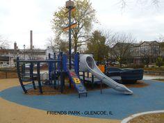 Boat Themed Playground at Friends Park - Glencoe, IL