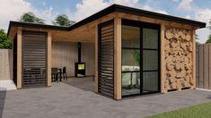 Garden Design Layout - New ideas Backyard Buildings, Backyard House, Backyard Pergola, Back Garden Design, Patio Design, Shed Design, House Design, Backyard Storage, Garden Office