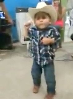 Little Boy Dances to Mexican Norteno Music